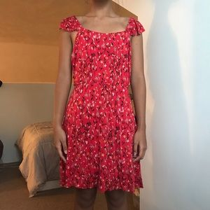 Casual Kimchi Blue red patterned backless dress